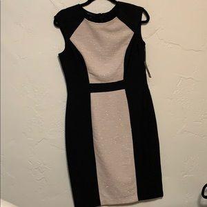 Metaphor Black and Blush Knit Dress